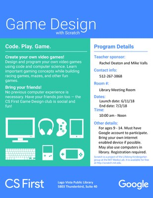 Game Design with Scratch