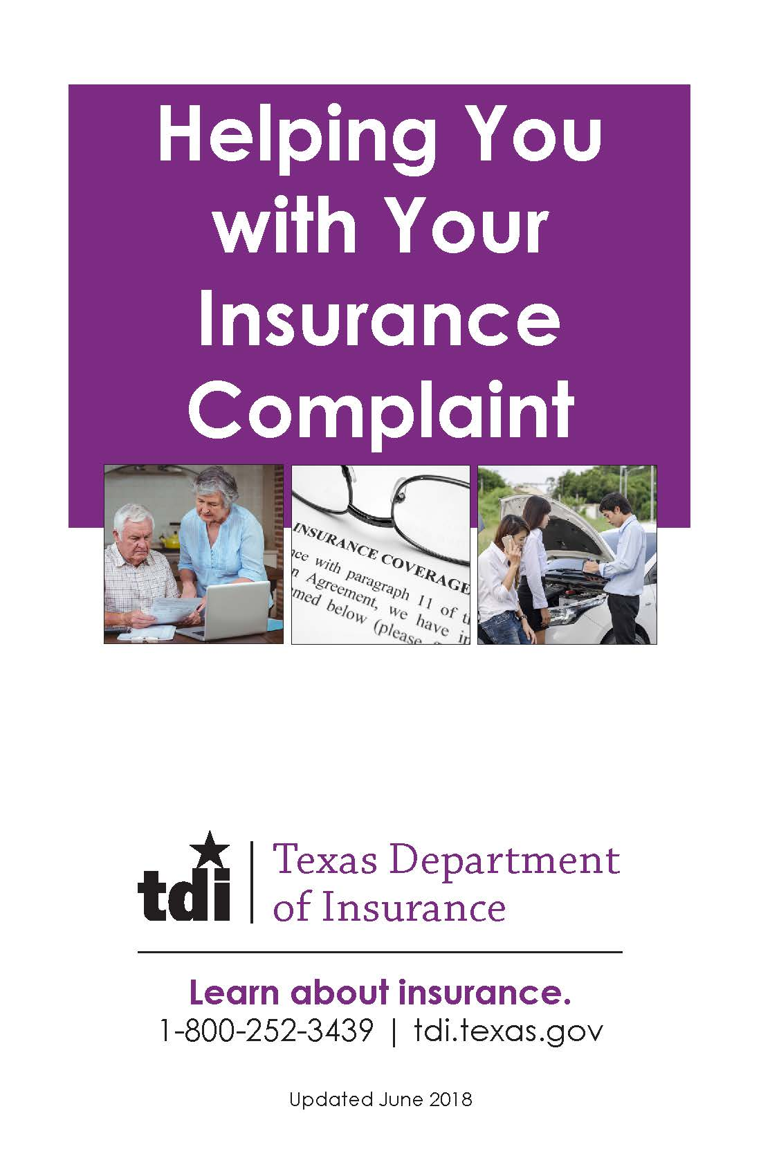 Helping You With Your Insurance Complaint 2018.jpg