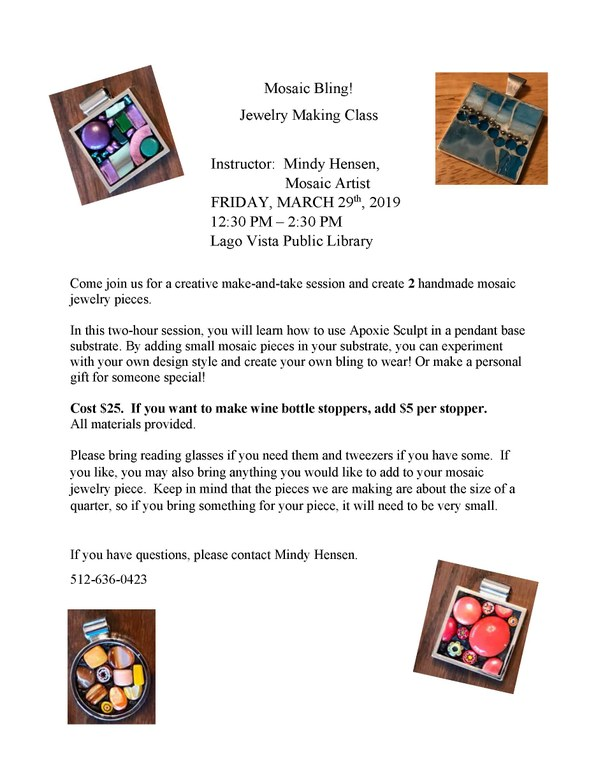 March 29 2019 Mosaic Bling Jewelry Class Flyer.jpg